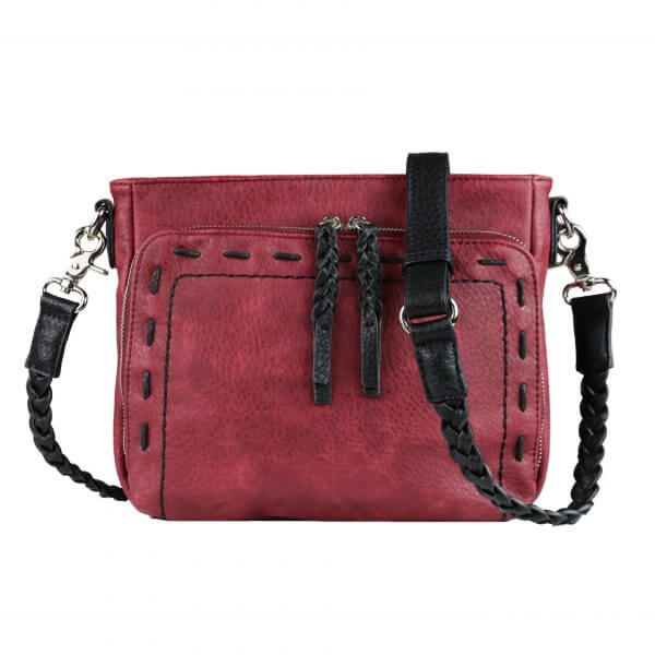 Skylar Concealed Carry Crossbody Bag Bordeaux Red