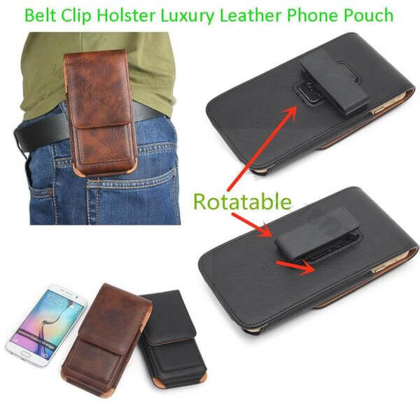 Universal Phone Case Holster with Belt Clip