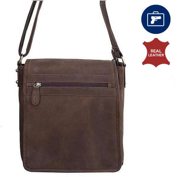 Western Leather Concealment Satchel