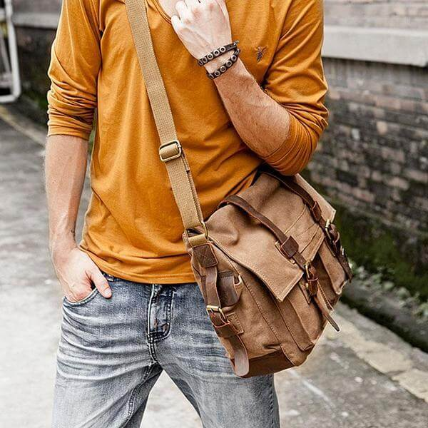Canvas Military Messenger Bag