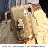 Multi-Purpose EDC Waist Bag Pouch tan sand