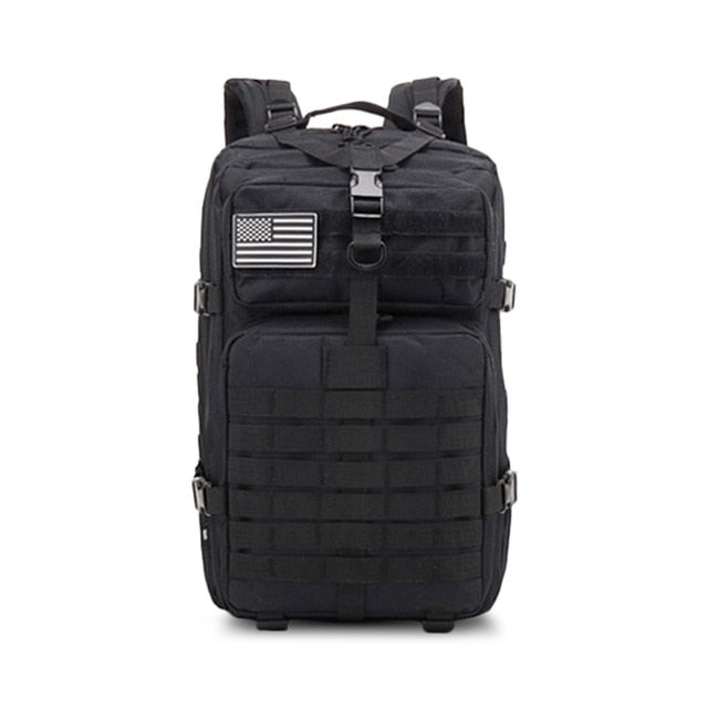 military style backpack black