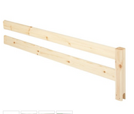 Flexa safety rails, natural pine