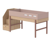 Popsicle mid height bed with steps(3 choices colours)