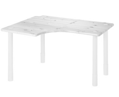Flexa Elbow desk ,whitewash