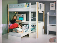 Flexa Highbed , desk ,plus pullout sofabed,SEE VIDEO