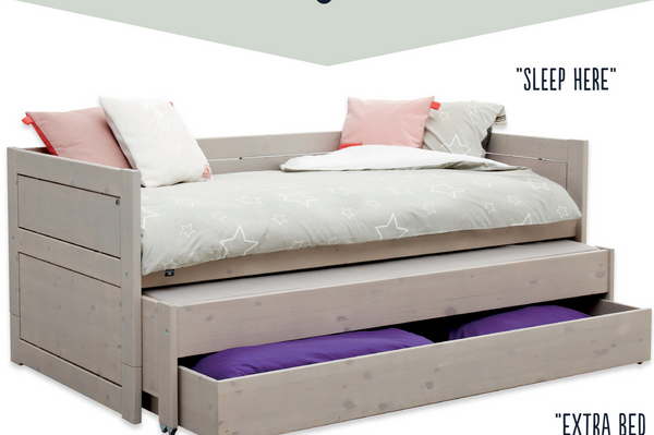 Lifetime Greywash guestbed and single