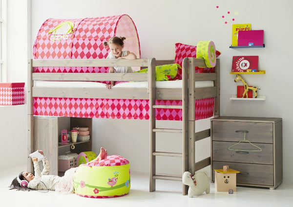 Flexa Semi high bed with princess cave and band