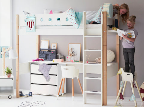 Flexa Highbed With Desk Drawers And Chair Little Elves Furniture