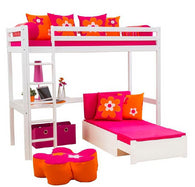 Happykids highbed,sofabed and desk