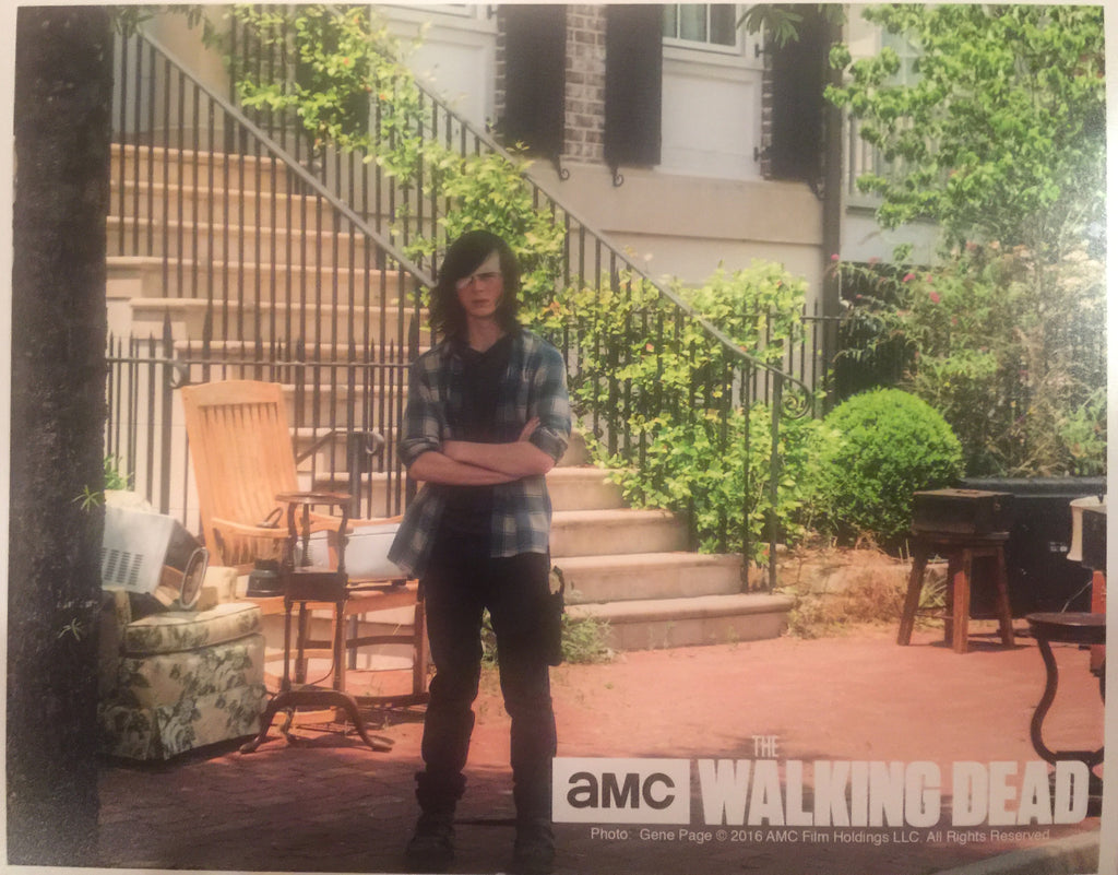 Autographed The Walking Dead Chandler Riggs Photo