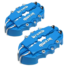 4pcs Universal Car Auto 3D Brembo Style Disc Brake Caliper Covers Front And Rear Blue
