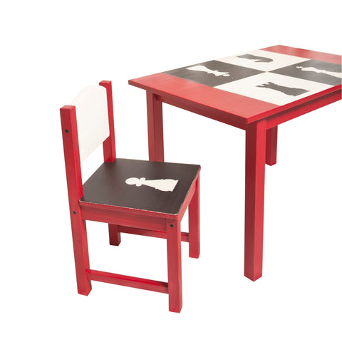 Chess Play Table and 2 Chair Set