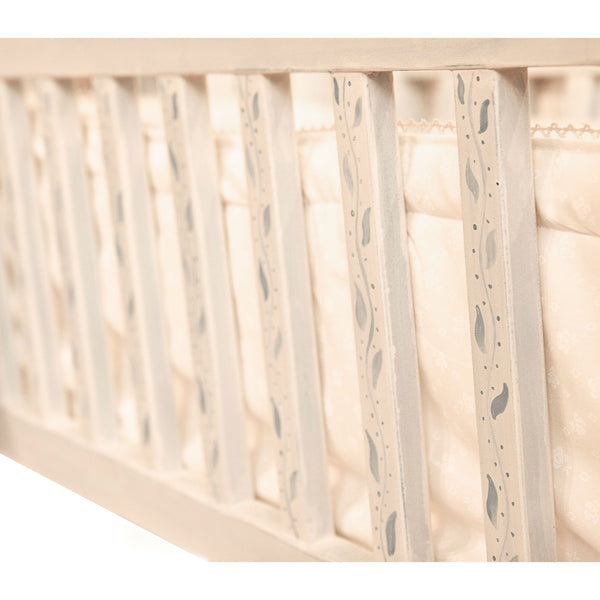 Cradle with Cotton Bumper and Lace Canopy