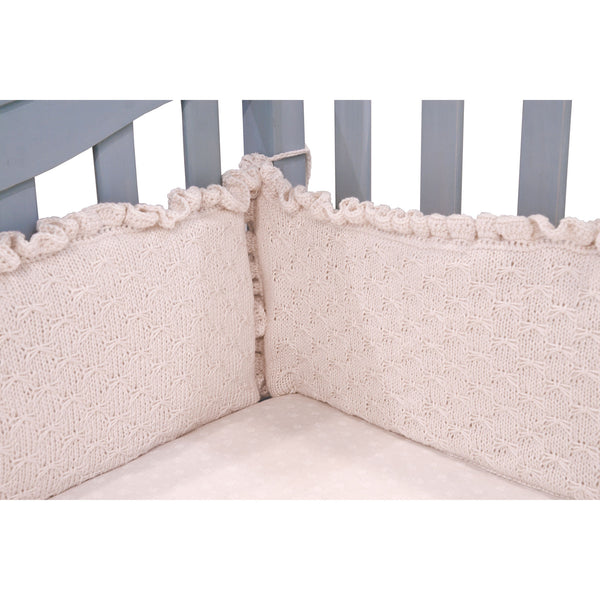 Baby Crib Cotton/Silk Hand Knitted Bumper