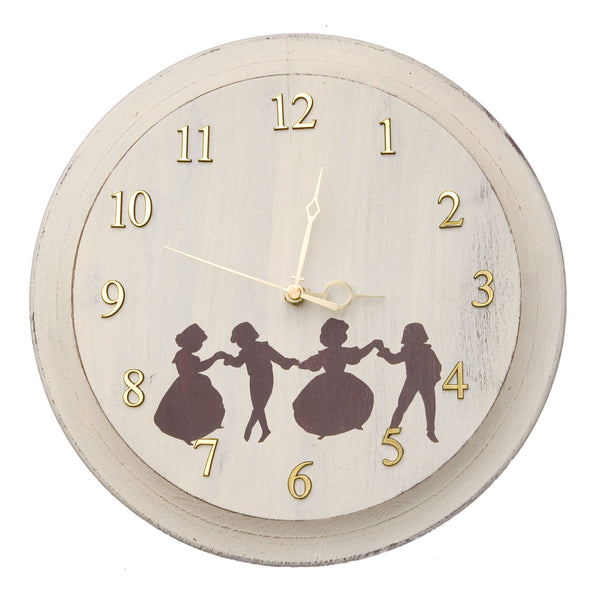 Dancers Wooden Clock