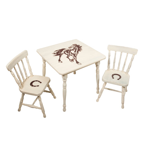 Equestrian Play Table and 2 Chair Set