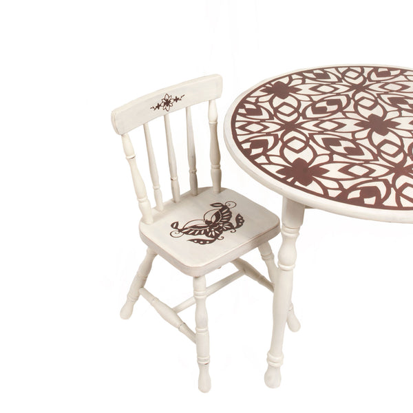 Floral Play Table and 2 Chair Set