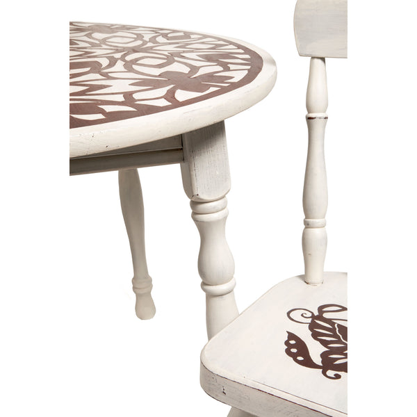Personalized Gift -  Floral Play Table and 2 Chair Set