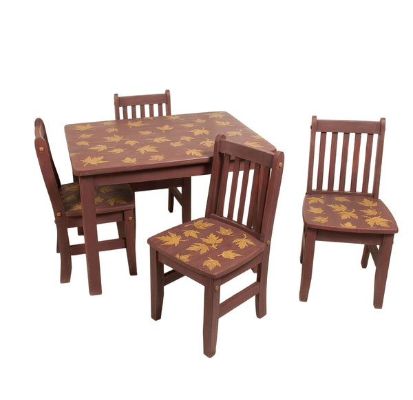 Maple Leave Play Table and 4 Chair Set