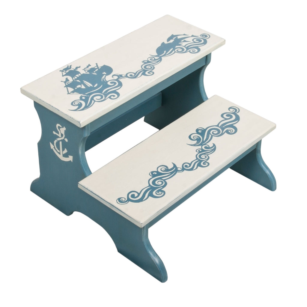 Marine Two Step Stool for Kids