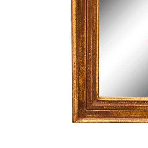 Wall Mirror Brown Disstressed