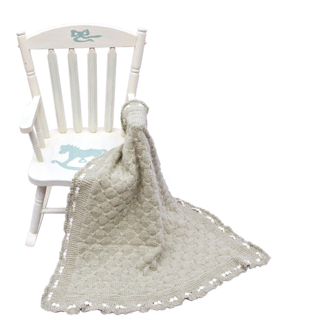 Organic Wool Baby Blanket Pale Green