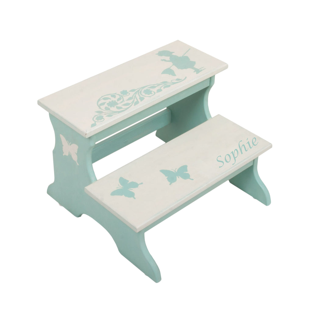 Personalized Gift Butterfly Two Step Stool For Kids La