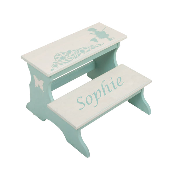 Personalized Gift - Butterfly Two Step Stool for Kids