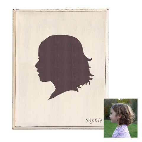 Personalized Gift - Custom Silhouette on Wood