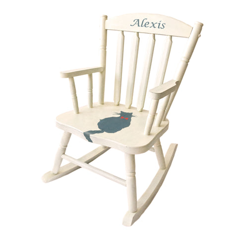 Personalized Gift - Kitten Kids Rocking Chair