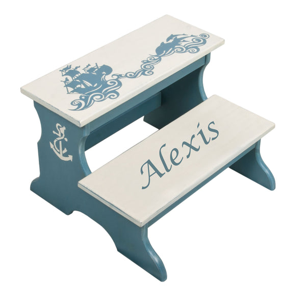 Personalized Gift - Marine Two Step Stool for Kids