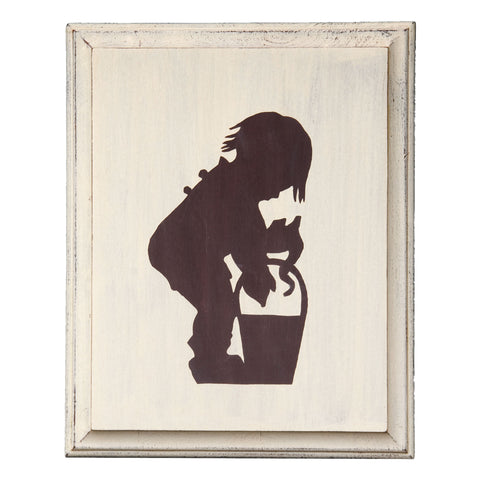 Wall Picture, Silhouette of Fishing Boy