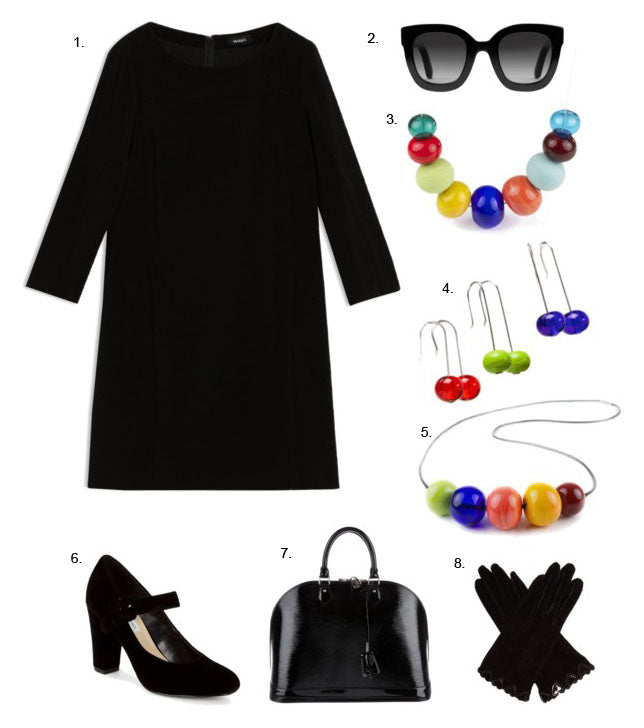 How to brighten up a simple black dress and get noticed