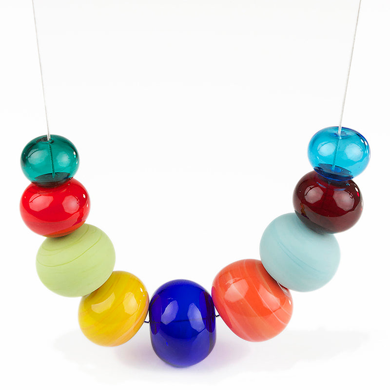 Bubble necklace - multi-colored