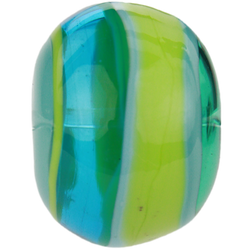 Blue-green striped bead 1