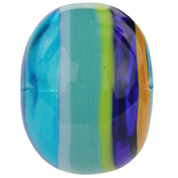 Blue-green striped bead 4