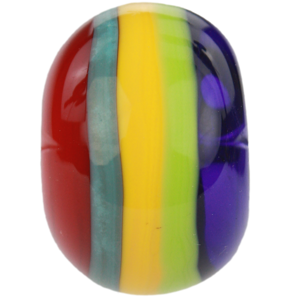 Multicolored striped bead