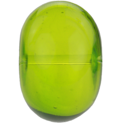Transparent light green bead