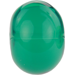 Transparent teal green bead