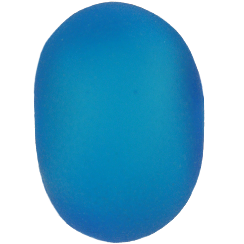 Frosted medium blue bead