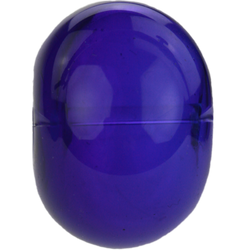 Transparent dark blue bead