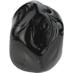 Black nugget bead