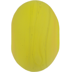 Frosted yellow ochre bead