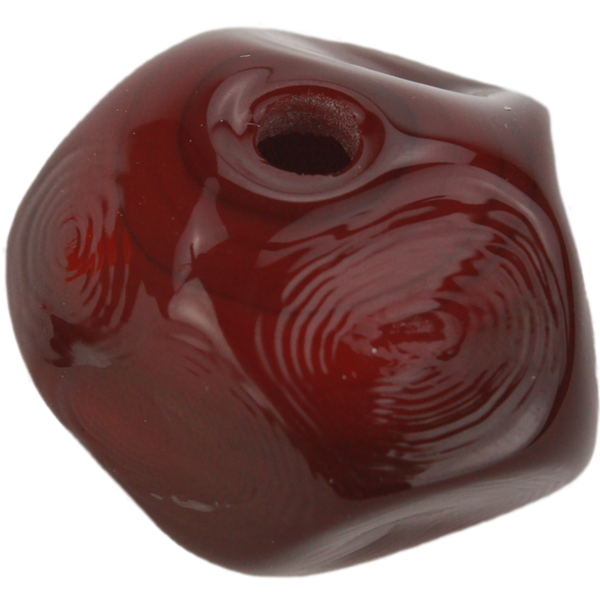 Dark red nugget bead