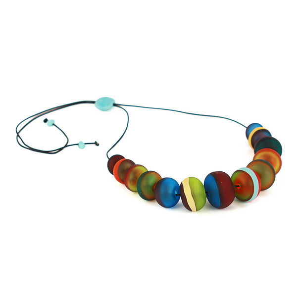 Soft stripes necklace -multi-color