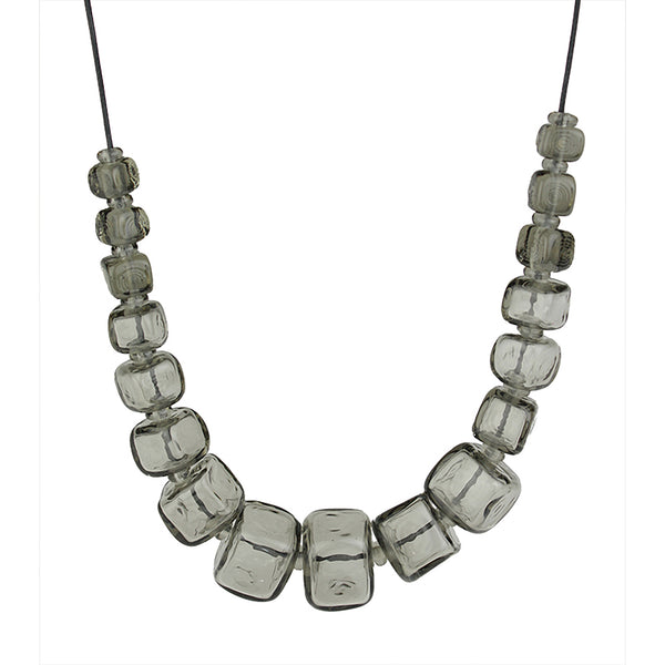 Cube necklace - gray