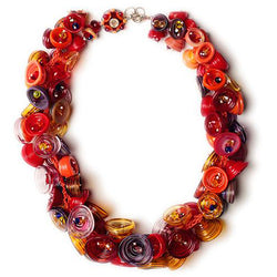 Pod necklace - red