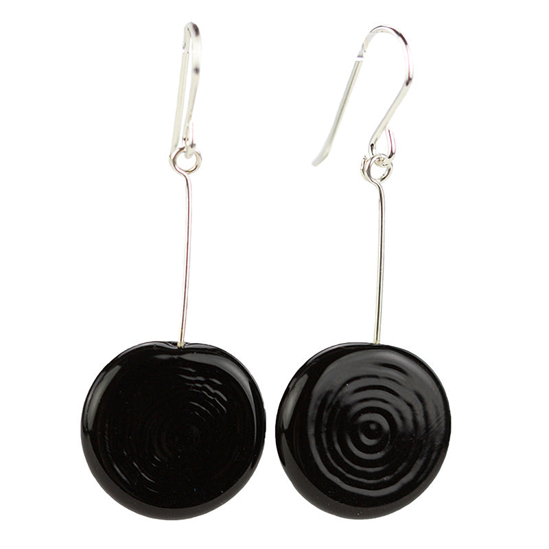 Tab earrings black