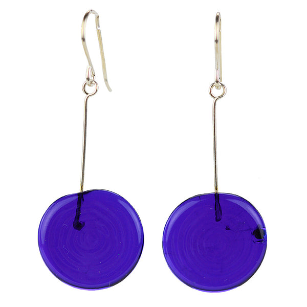Tab earrings cobalt blue